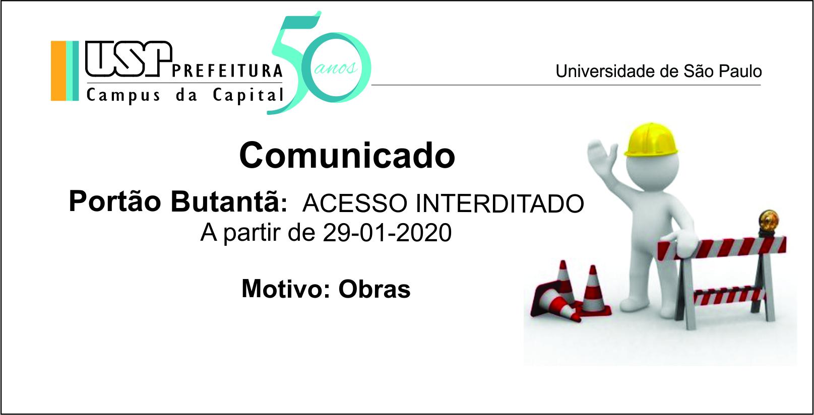 INTERDIÇÃO PORTÃO BUTANTA 29-01-2020