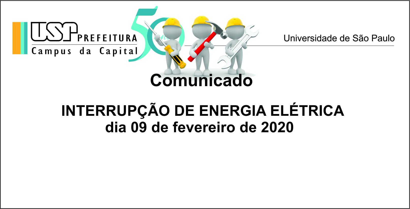 Interrupção de energia 09 de fevereiro 2020