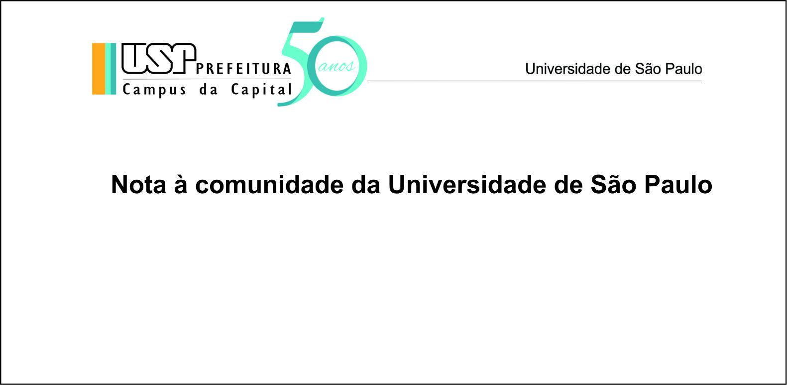 Nota à comunidade da Universidade de São Paulo
