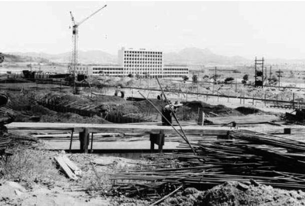 Construção do prédio da História e Geografia